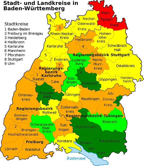 Land Und Stadtkreise Baden Württemberg